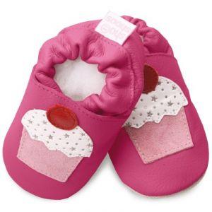 shooshoos Charlotte framboise - Chaussons bébé