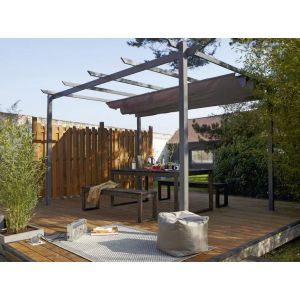 Naterial Tonnelle autoportante rectangulaire en aluminium 8.3m³ Niagara