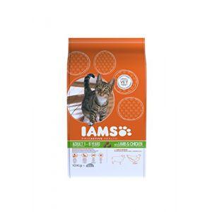 IAMS Croquettes pour chat adulte Agneau néo zélandais 10 kg