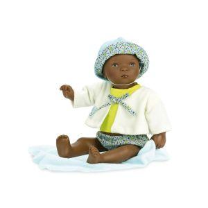 Petitcollin Poupée Bibichou de 35 cm : Teddy dans son petit lit par Sylvia Natterer