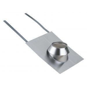 Poujoulat Solin inox 15 à 30° tuile avec collerette THERMINOX TI - Diamètre : 180