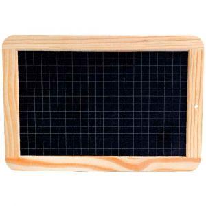 Safetool Ardoise naturelle avec cadre en bois face quadrillé petits carreaux - 26 x 19 cm
