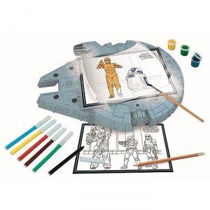Clementoni Tablette à dessins Faucon Millenium Star Wars