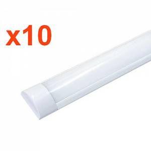 Silamp Réglette LED 60W 150cm (Pack de 10) - couleur eclairage : Blanc Neutre 4000K - 5500K