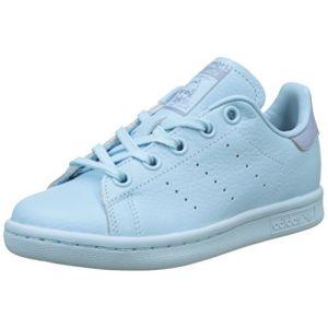 Adidas Stan Smith, Baskets Garçon, Bleu (Ice Blue/Ice Blue/Tactile Blue), 38 2/3 EU
