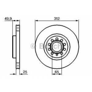 Bosch 1 Disque de frein 0986479058