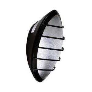 Ebénoid Applique fluo 1X18W à detection HF grille poly noire 331X279mm avec lampe G24q-2 ballast elec IK10 IP65 DOME 079347