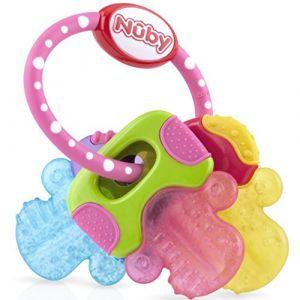 Nûby Clefs Dentition Refrigerante Rose 3m+