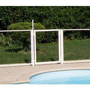 Chalet et Jardin Portillon transparent pour barrière de piscine (90 x 117 cm)