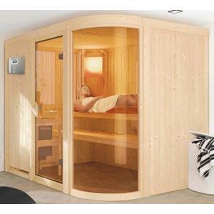 Veryspas Sauna Vapeur 9 kW traditionnel Finlandais 5 places Sphérium Prestige Selects