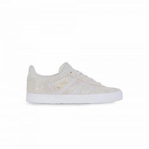 Adidas Gazelle Glitter Blanche Et Grise Enfant 33 Baskets