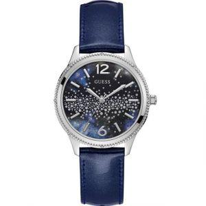 Guess Montre W1028L1 - Montre Cuir bleu Femme