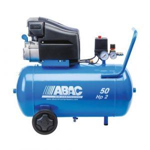 Abac Compresseur à piston lubrifié 50L 10bar 2CV 13,2 m3/h - MONTECARLO L20