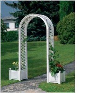 KHW Pergola arc double avec jardinières
