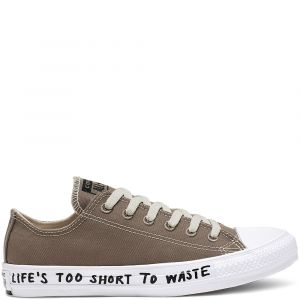 Converse Chaussures casual unisexe Chuck Taylor All Star basses toile recyclée Renew P.E.T Canvas Marron - Taille 37
