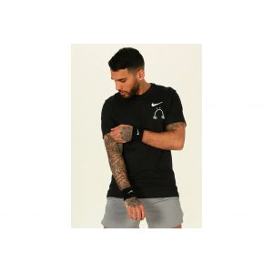 Nike Tee-shirt de running Dri-FIT Nathan Bell pour Homme - Noir - Taille L - Male