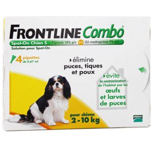 Frontline Combo Spot On Chien 2 à 10kg - 3 pipettes de 0.67ml