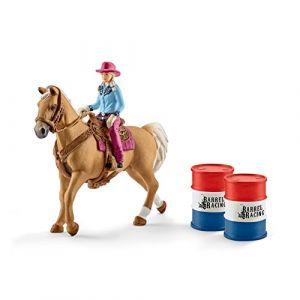Schleich Farm World 41417 Barrel racing mit Cowgirl