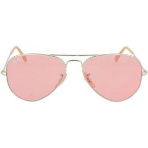 Ray-Ban Aviator evolve Sunglasses Verres  Rose, Monture  Argent - RB3025  9065V7 7f813c0b52