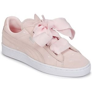 Puma Suede Heart Valentine Jr, Sneakers Basses Fille, Rose (Pearl-Pearl), 39 EU