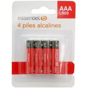 EssentielB Pile 4 AAA Alcaline LR03