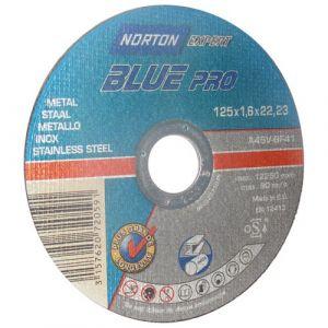 Norton clipper Disque a tronconner bleu metaux diametre 125x1.6x22.2