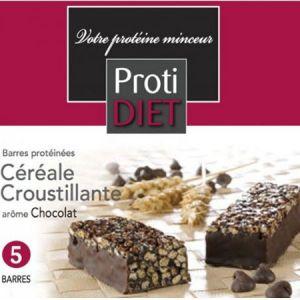 Proti Diet Barres protéinées céréale croustillants arôme chocolat, 5 barres
