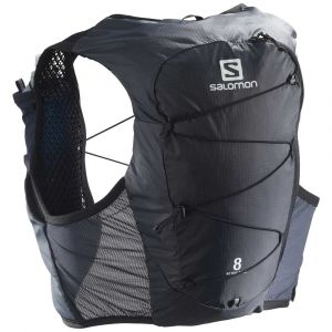 Salomon Active Skin 8 Kit sac à dos, ebony/black L Vestes & Ceintures d'hydratation