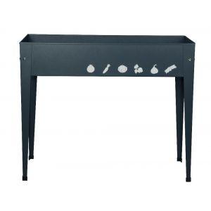 Herstera Table potagère urbain rectangulaire en acier galavanisé 100 x 40 x 84 cm