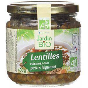 Jardin Bio Lentilles vertes cuisinées - Le bocal de 400g