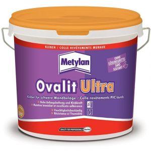 Metylan Colle revêtements muraux plastiques/vinyls Ovalit Ultra 5kg - 1701117