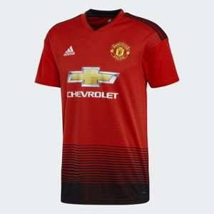 Adidas Manchester United FC Domicile Maillot de Football Homme Real Red, Noir FR : L (Taille Fabricant : L)