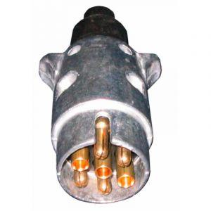 Ama Prise remorque mâle 12 V 7 broches aluminium