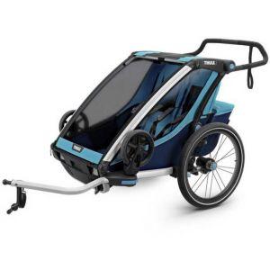 Thule Chariot Cross 2 Remorque vélo blue/poseidon Remorques pour enfant