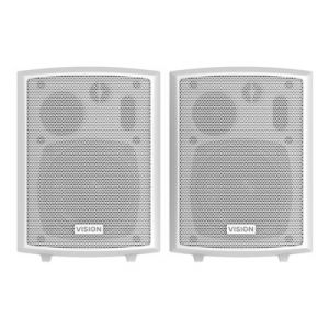 Vision SP-800P - Paire de haut-parleurs actifs muraux 24 Watt tridirectionnel