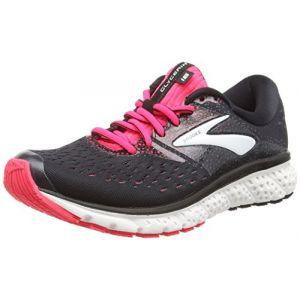 Brooks Glycerin 16, Chaussures de Running Femme, Multicolore (Black/Pink/Grey 070), 38 EU