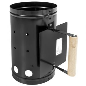 TecTake 401663  - Allume charbon en acier avec bouclier anti-chaleur Xxl pour barbecue