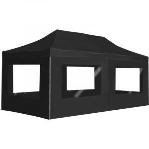 VidaXL Tente de réception pliable à parois Aluminium 6 x 3m Anthracite