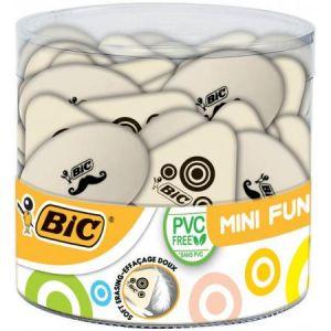 Bic 927865 - Gomme caoutchouc Mini Fun, extra molle, blanche