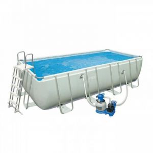 Intex 28348 - Piscine tubulaire rectangulaire 4,57 x 2,74 x 1,22 m