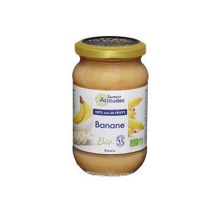 Saveurs attitudes Confiture de banane bio sans sucre ajouté - 3 pots de 310g