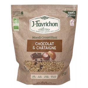 Favrichon Muesli croustillant Chocolat châtaigne bio 375g