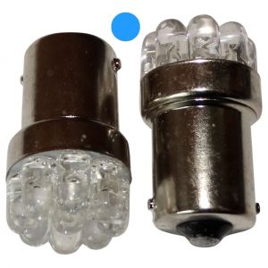 Aerzetix : 2x ampoule 24V P21W R10W R5W 9LED bleu pour camion semi-remorque porte de garage portail
