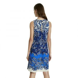 Desigual Vest_atenas Robe, Bleu (Azul Dali 5054), 44 (Taille Fabricant: 42) Femme