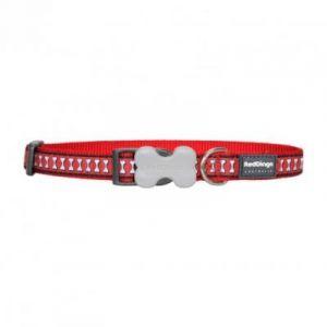 RedDingo Collier Réfléchissant pour Chien Rouge Os 24-37 cm 15 mm