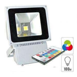 Vision-El Projecteur led 100 watt (eq. 900 watt) RGB - Couleur eclairage - RVB (Rouge Vert Bleu)