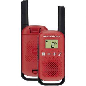 Motorola TLKR-T42 WE TWIN PACK rouge - Talkie walkie