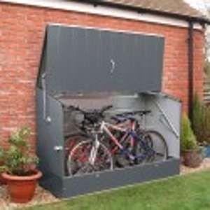 Trimetals Abri vélos anthracite en métal 1,96x0,89x1,33 m - ABRIVELOS_ANTHRACITE
