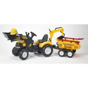 Falk Tractopelle Powerloader, excavatrice et dumper max avec casque