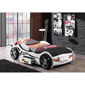 Someo Lit voiture Turbo avec tiroir pour enfant 90 x 200 cm